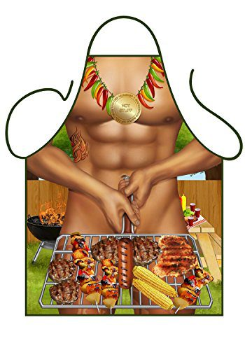 Other Men's Novelty Aprons Rugby Player,BBQ,Business Man,Fisher Man (BBQ)
