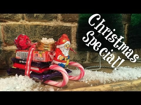 Christmas Crafts   Easy Chocolate Sleigh Treat DIY (as seen on Elynn's Place)