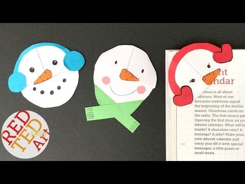 Easy Snowman Bookmarks – Easy Paper DIYs for Christmas