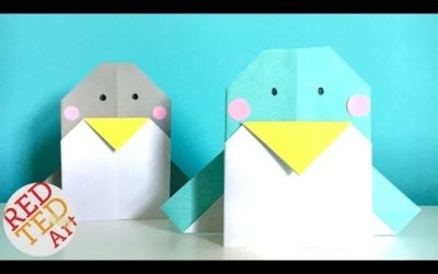 Easy Origami Penguin – Perfect Greeting Card too