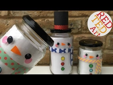 Snowman Gift Jar – Last Minute Gift – Collab with Alla's Yummy Food