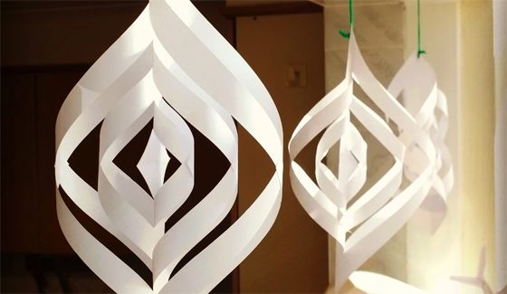 Quick and easy paper Christmas decorations