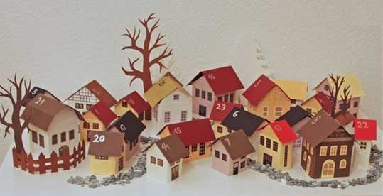 Create your own advent winter village