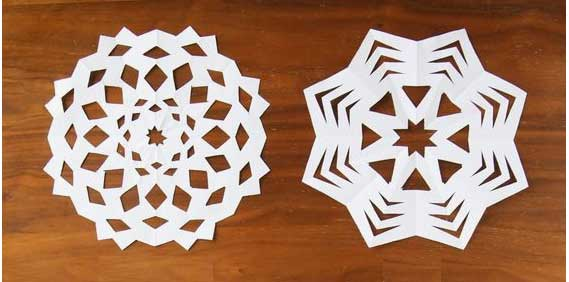 Create your own cut out snowflakes