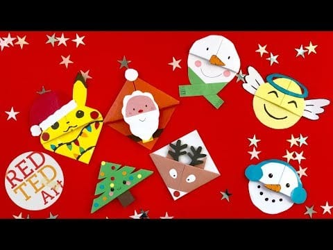 6 Christmas Corner Bookmark Designs – DIY Kawaii Bookmarks for Christmas