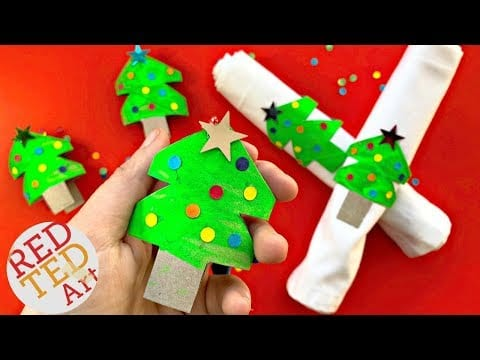 Toilet Paper Roll Christmas Tree Napkins DIY – Christmas Home Decor   Christmas Tree Ornaments DIY