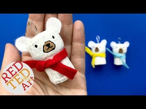 DIY Polar Bear Ornament – DIY Cork Ornaments for Christmas