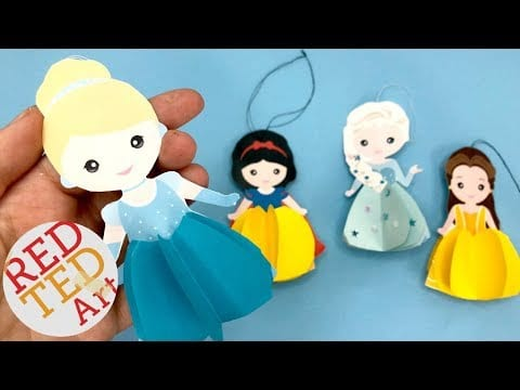 Paper Cinderella Ornament – DIY Princess Christmas Decorations