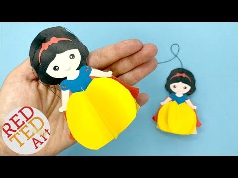 Paper Snow White Ornament DIY with Printable – Easy Christmas Decorations