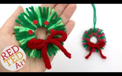 DIY Yarn Wreath Ornaments for Christmas