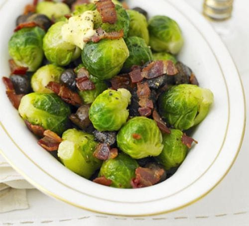 Brussels sprouts with bacon & chestnuts