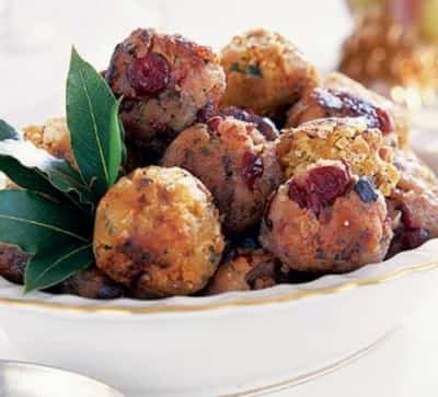 Chestnut, bacon & cranberry stuffing