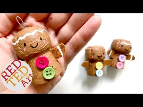 DIY Gingerbread Man Ornament – Cork Recycled Christmas Ornaments