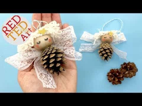 Pine Cone Angel Ornaments DIY – Nature Christmas Decorations