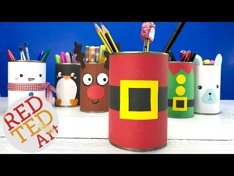 DIY Santa Desk Tidy – 5 Minute Crafts for Christmas – Santa Candy Holder