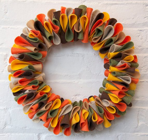 Best Fall Wreath Ideas - Felt